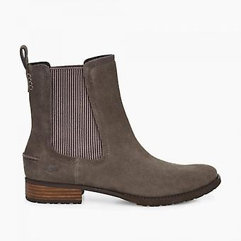 UGG Hillhurst Ii Ladies Suede Ankle Boots Slate