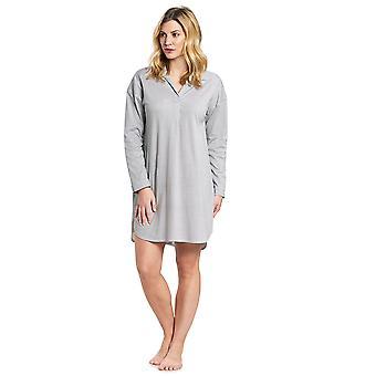 Féraud 3191056-12560 Women's High Class Minimal Blue Cotton Sleep Shirt Nighty Nightshirt