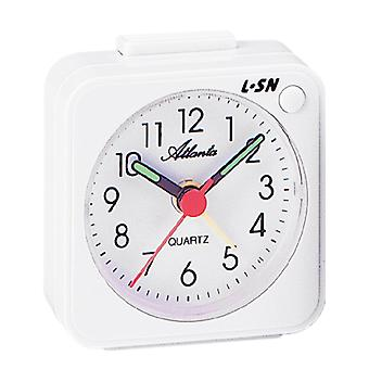 Atlanta 1230/0 Alarm clock quartz analog white with light snooze