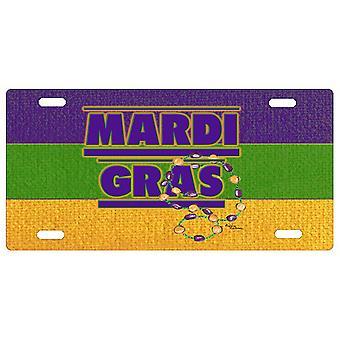 Carolines Treasures  8388LP Mardi Gras License Plate