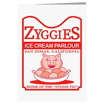 Bill And Ted Zyggies Ice Cream Parlour Greeting Card