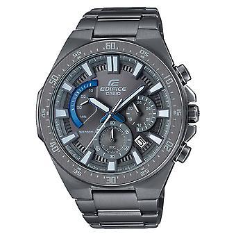 Casio Edifice Quartz Gunmetal Grey Stainless Steel Chronograph Mens Watch EFR-563GY-1AVUDF