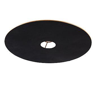 QAZQA Velor abat-jour plat noir avec or 45 cm