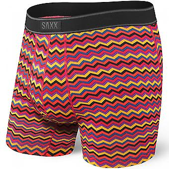 SAXX Daytripper Red Heat Wave Fly Boxer Brief, Red