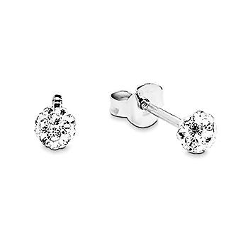 Amor - Silver earring with crystal - woman - white