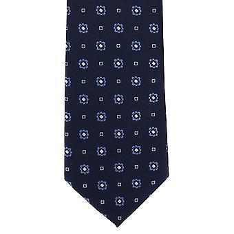 Michelsons Londyn kwiatowy schludny krawat poliestrowy - Navy