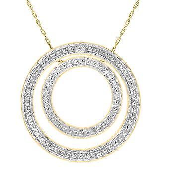 KJ Beckett klipp ut dubbel cirkel halsband - gul Guld/Silver