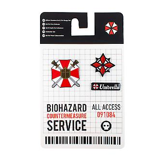 Official Resident Evil 3 Pin Badge Set