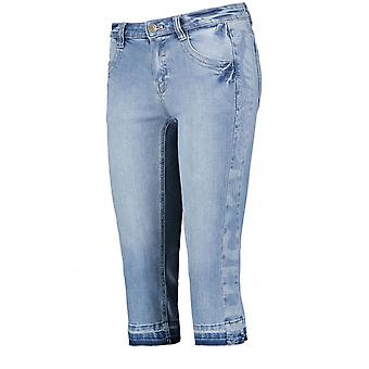 Taifun Blue Denim Short Cropped Jeans