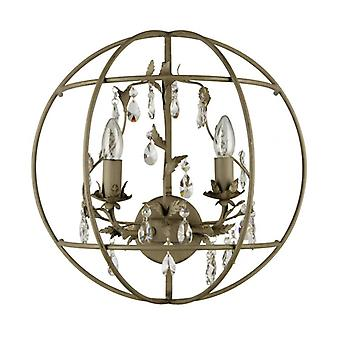 Gray Wall Light Loft 2 Bulbs 22 Cm