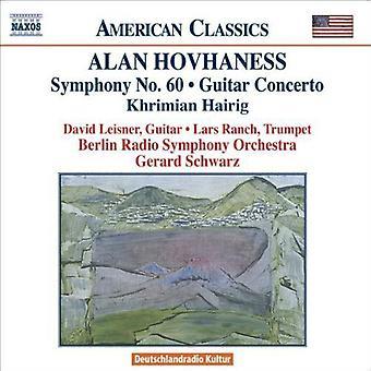 A. Hovhaness - Alan Hovhaness: Symphony No. 60; Guitar Concerto; Khrimian Hairig [CD] USA import