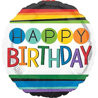 Anagram gelukkige verjaardag regenboog folie ballon 18 in