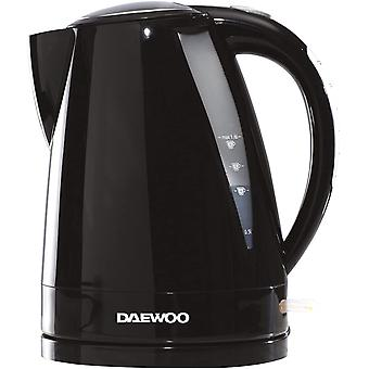 Daewoo Balmoral Electric Kettle 1.6L 3KW Rapid Boil Lightweight Plastic Black