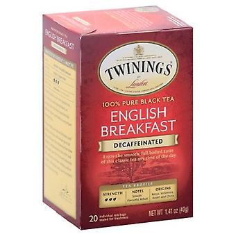 Twinings Of London English Breakfast Decaffeinated Pure Black Tea