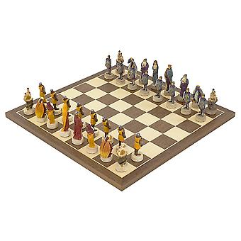 Medieval Hand painted themed Chess set by Italfama