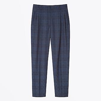 PS Paul Smith  - Polka Dot Jacquard Trousers - Navy