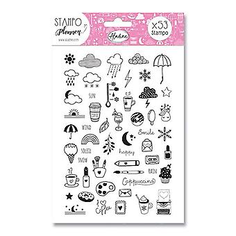Aladine Foam Stamps Planner Girly