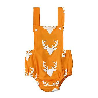 Baby Girl Cute Backless Deer Cotton Romper Costume