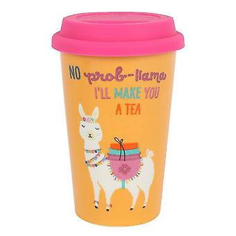 Something Different Llama Thermal Travel Mug