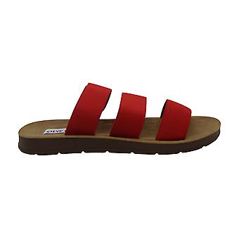 Steve Madden Womens Pascale Fabric Open Toe Casual Slide Sandals