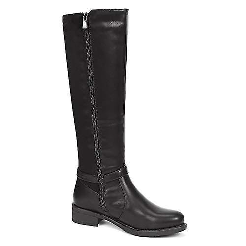 DREAM PAIRS Women's Side Zipper Fashion Knee High Riding Boots