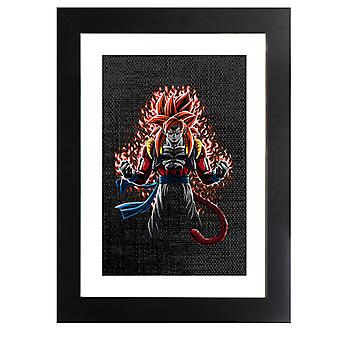 Gogeta Super Saiyan Four Dragon Ball Z GT Framed Print