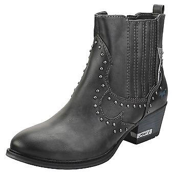 Mustang Casual Stylish Womens Ankle Boots in Graphite