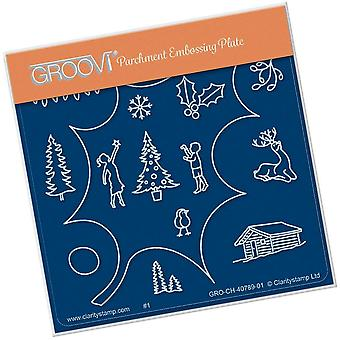 Groovi Holly Outline A6 Square Plate
