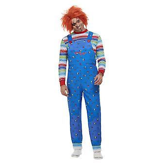 Mens Chucky Good Guys Halloween Fancy Dress drakt