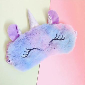 3d Unicorn Design-sleeping Eye Mask Adapté pour les voyages