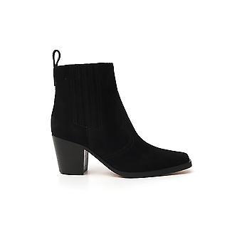 Ganni S1253099 Femmes's Black Suede Ankle Boots