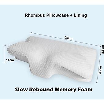 Contour Memory Foam Cervical Orthopedic Neck Pain Remedial Pillow