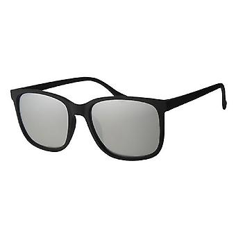 Sunglasses Unisex Travelers Black/Silver UV400