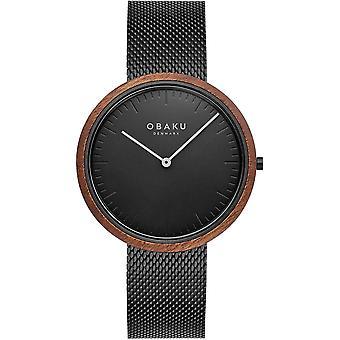 Obaku Trae Charcoal Men's Wristwatch V245GXBBMB