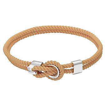 Rochet B3204017 pulsera - NAVIGATRICE acero y cordón algodón desnudo mujeres
