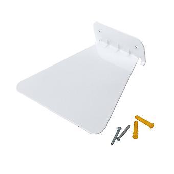 Roestvrij staal onzichtbare drijvende opslag boekenplank wit