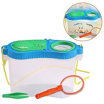 Wczesna edukacja edukacyjna Eksperymentalne badania plastikowe tool box - Owad karmienia Obserwacja Box Net Breeding Box Puzzle Zestaw ków (wielokolorowy)