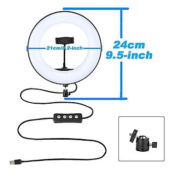 Led Video-ring-light With 51-inch Tripod Stand Phone-holder Selfie-ringlight For Youtube-makeup Video Live Lighting Photography