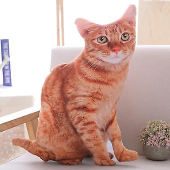 50cm 3d Simulation Katze Plüsch, gefüllte Kissen süße Katze Sofa Schlafzimmer Kissen Home