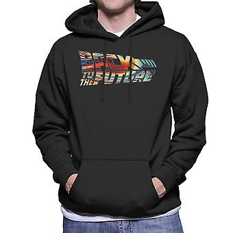 Back to the Future Psychedelic Logo Men's Hooded Sweatshirt
