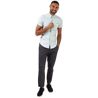Män & apos;s Ted Baker Wallo Oxford Cotton Shirt i grönt
