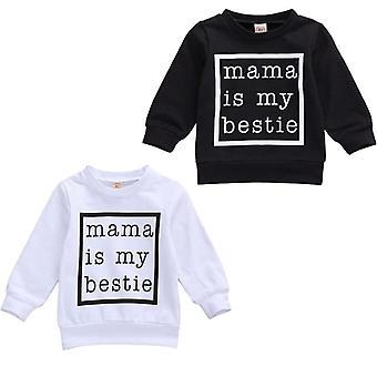 Mama Is My Bestie Imprimé, Sweat-shirt à manches longues