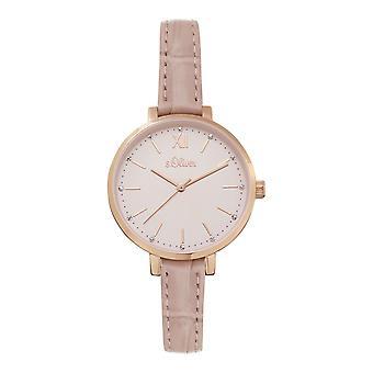 s.Oliver Damen Uhr Armbanduhr Leder SO-4195-LQ