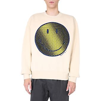 Marni Fumu0068p0s2354300w13 Men's White Cotton Sweatshirt
