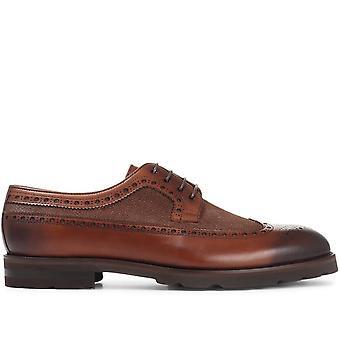 Jones Bootmaker Mens Leather Derby Wing-Tip Brogue
