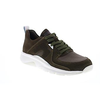 Camper Drift  Mens Green Suede Lace Up Euro Sneakers Shoes