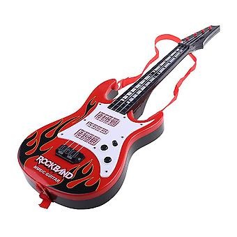 Music Electric Guitar 4 Strings Musical Instrument Educational Toy