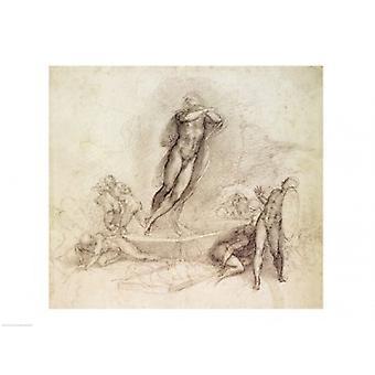 Studera för en uppstigning affisch Skriv av Michelangelo Buonarroti