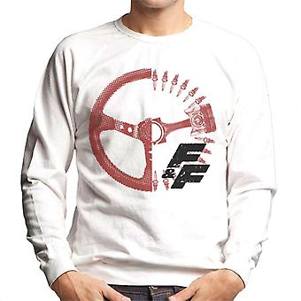 Fast and Furious Driving Wheel X Ray Men's Sweatshirt