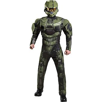Men's Master Chief Deluxe Muscle Costume